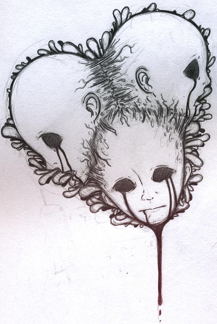 Bleeding Heart Sketch Bleeding Heart by en Viious