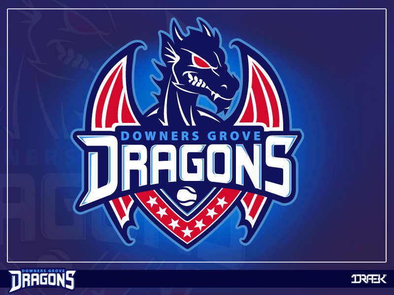 downer groves dragons sports dragon logo by draekdesign