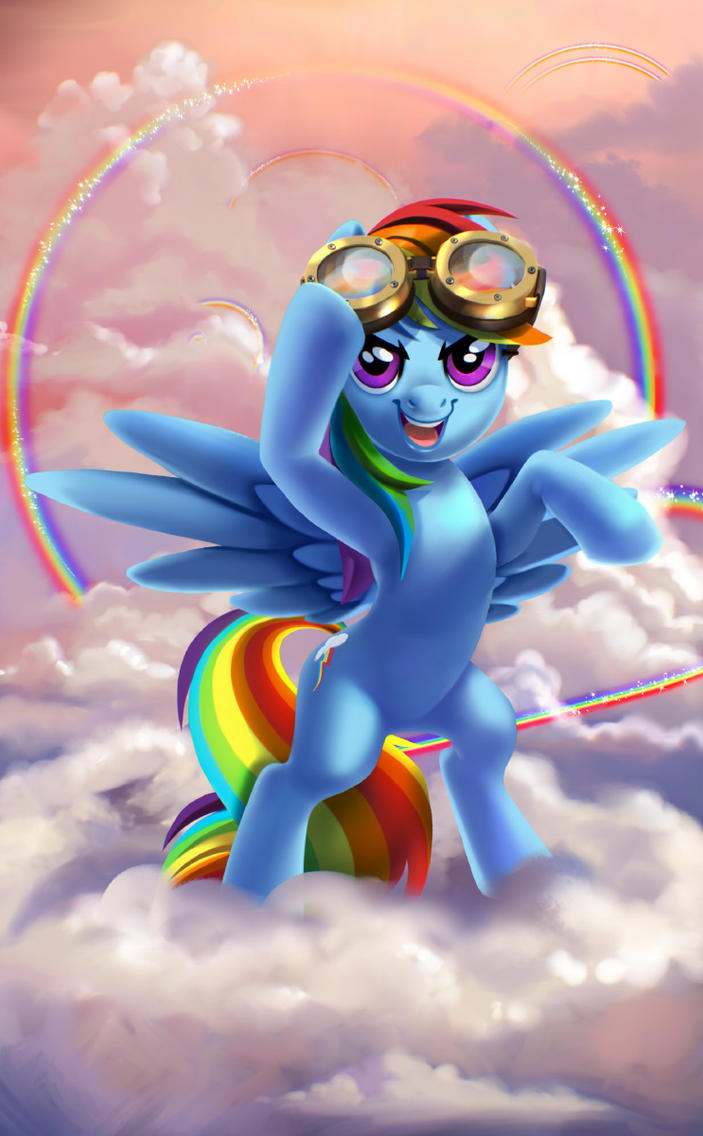 Rainbow Dash by Mewpan