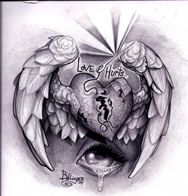 """love hurts"" version 1 by Bollingerart on DeviantArt"