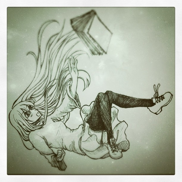 girl s falling down by Firebird-in-ForestGirl Falling From Sky Drawing