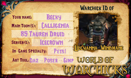 Warchicks ID by Lillyanna-Windmane