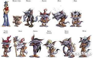 Kya Dark Lineage Characters by Kya-DarkLineage-Club