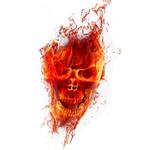fire skull png transparant 1