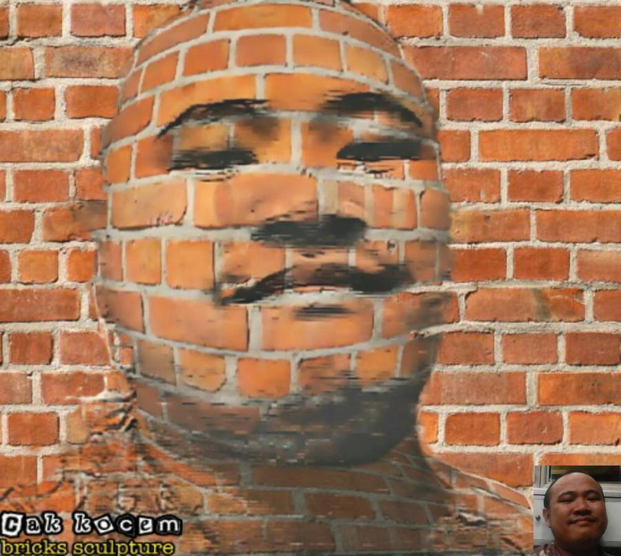 my brick face  by Cakkocem