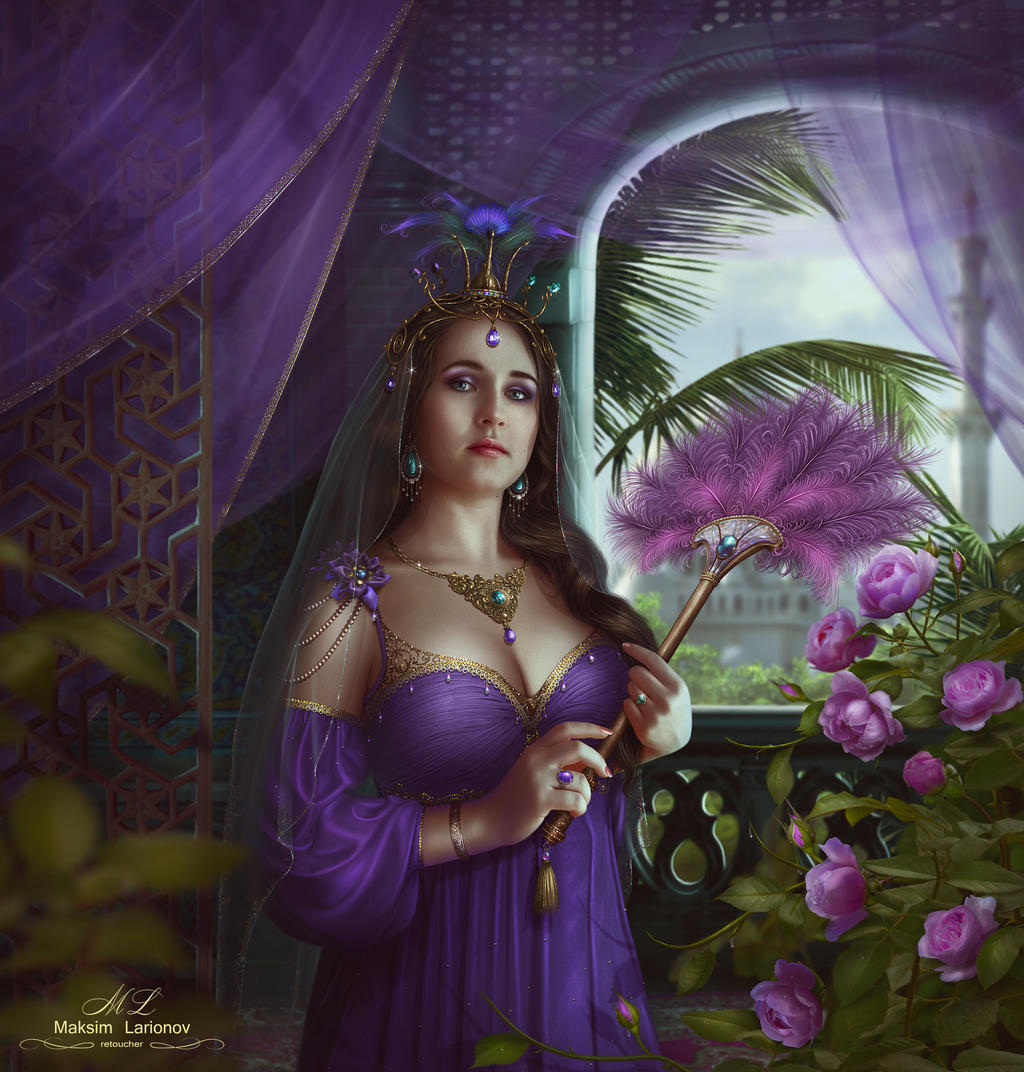 Mahidevran and Morning Rose by Maksim-Larionov