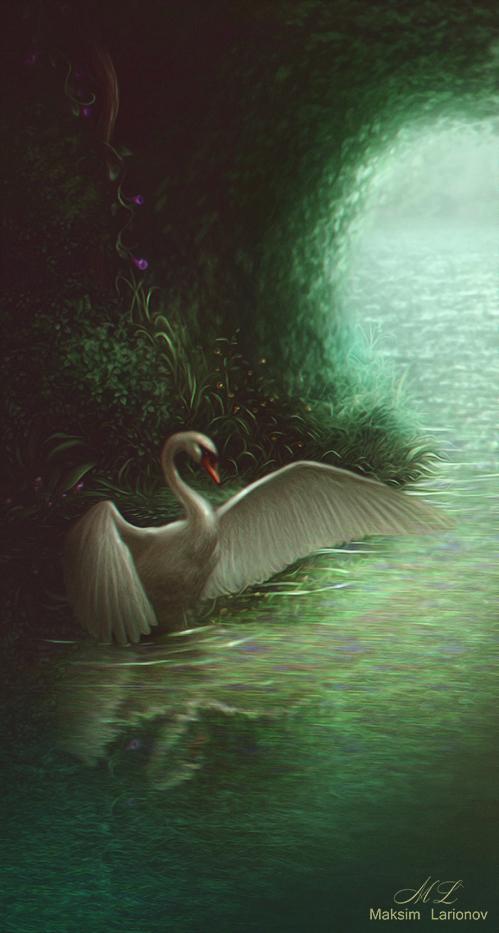 Swan by Maksim-Larionov