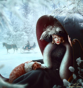 Winter walk by Maksim-Larionov