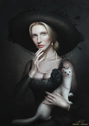 Lady with an ermine by Maksim-Larionov