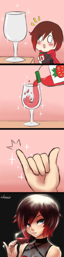How it feels to drink from a wine glass