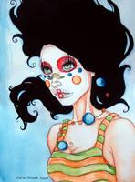 Clown Face I by EmilieDionne