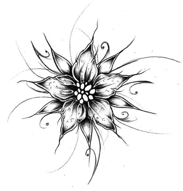 Flower Designs Drawings   New Calendar Template Site