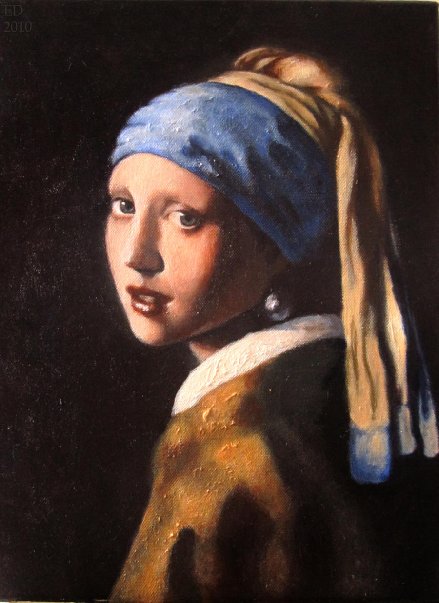 The Girl With A Pearl Earring By Emiliedionne On Deviantart