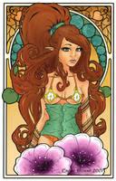 Art Nouveau: Violet by EmilieDionne