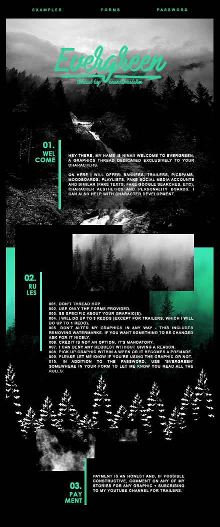 Evergreen | Wattpad Thread Design by miserableyouth on