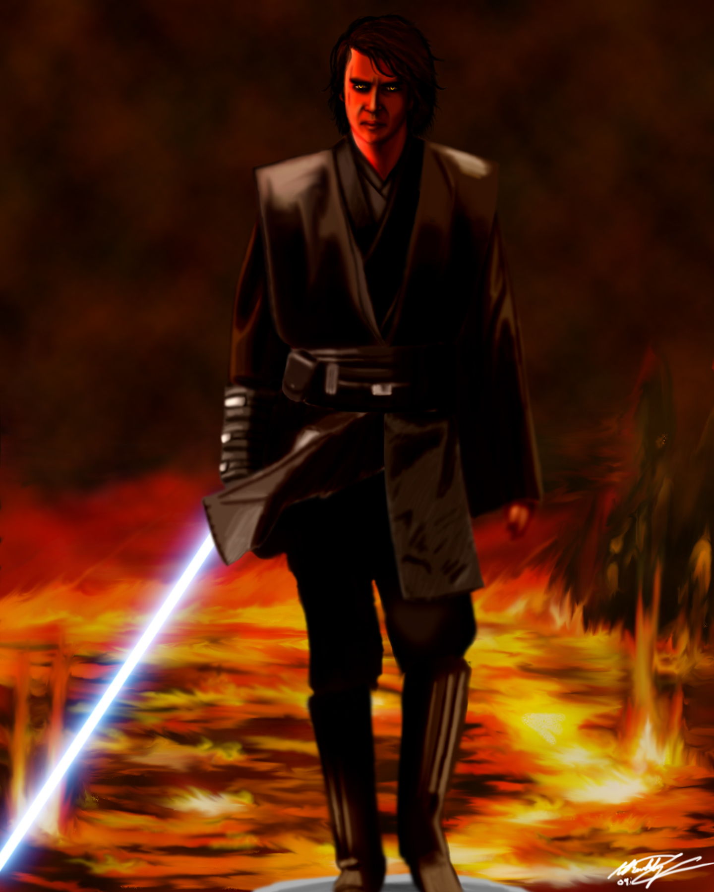 Anakin on Mustafar by BuckBuckBuckles on DeviantArt
