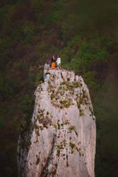 Climbers wedding