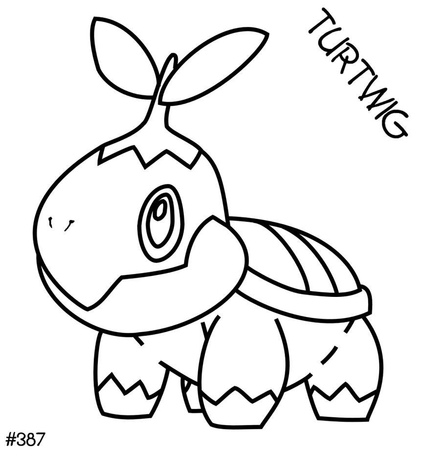 Turtwig Lineart By Banshee Moon On Deviantart Turtwig Coloring Pages