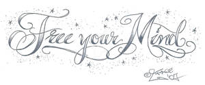Free your Mind TattooLettering