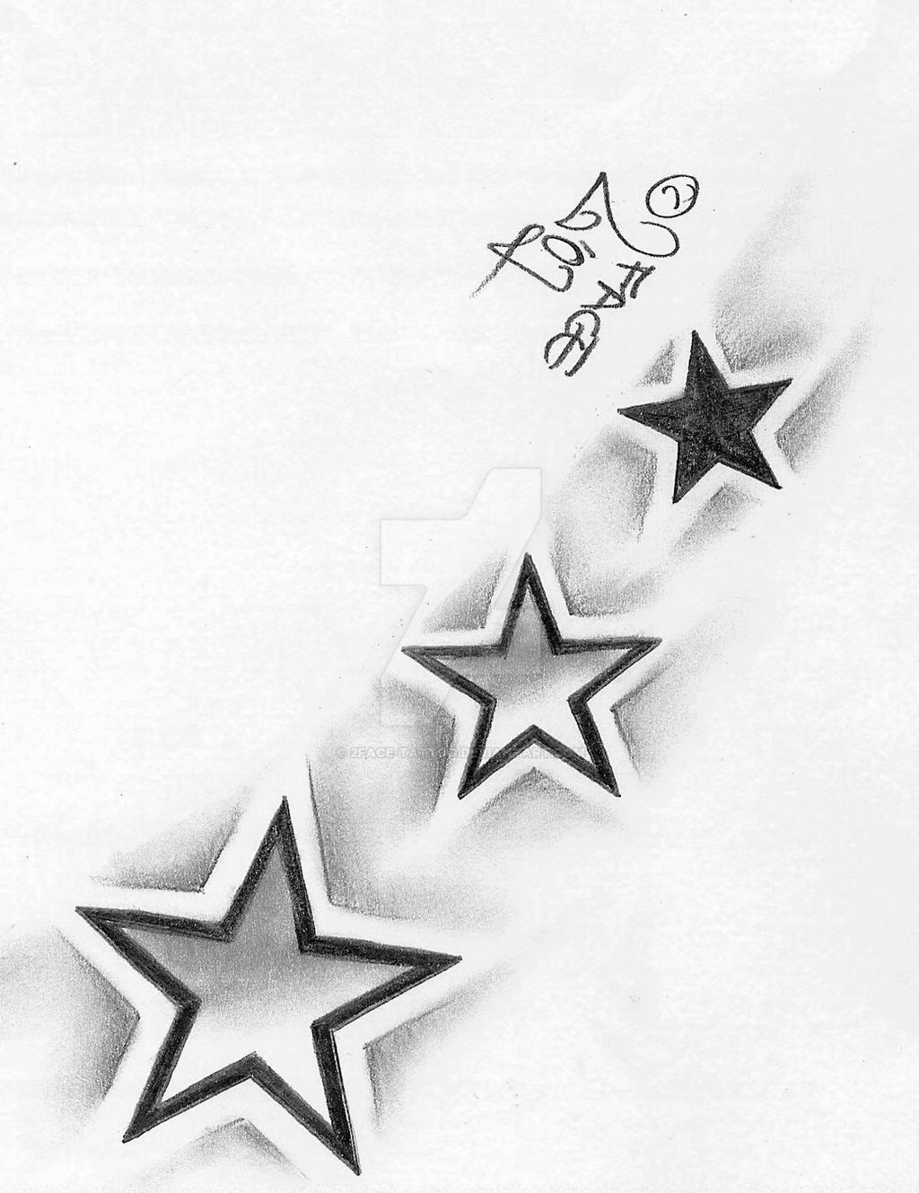 Shading Stars Tattoo