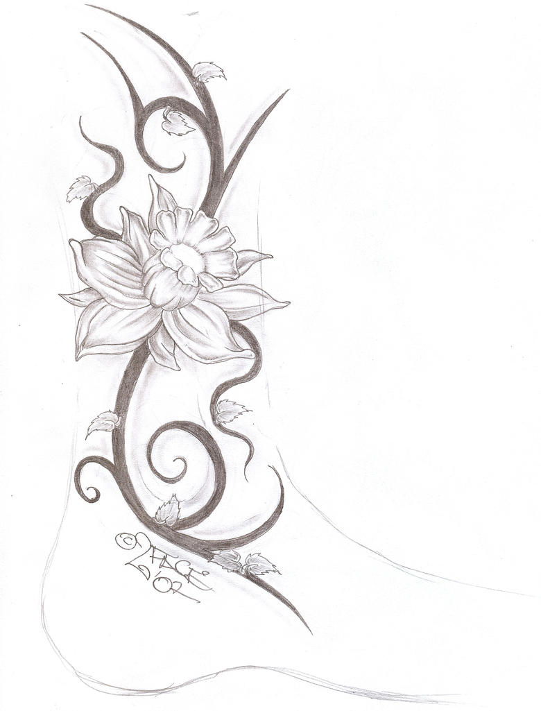 tattooflash tribal flower 2 by 2face tattoo on deviantart. Black Bedroom Furniture Sets. Home Design Ideas