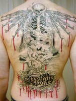 Back piece man Tattoo by 2Face-Tattoo