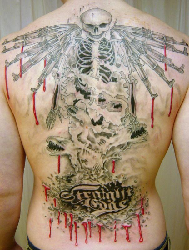 Back piece man Tattoo