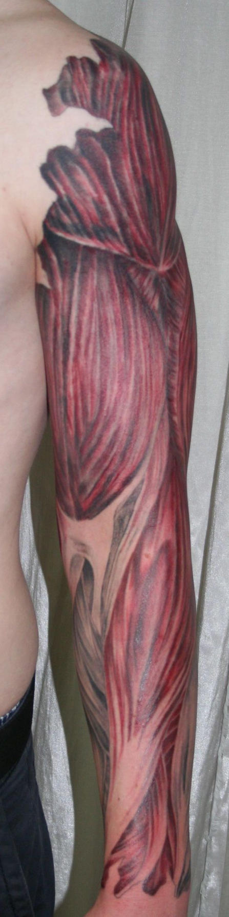 arm with muscle tiss Tattoo
