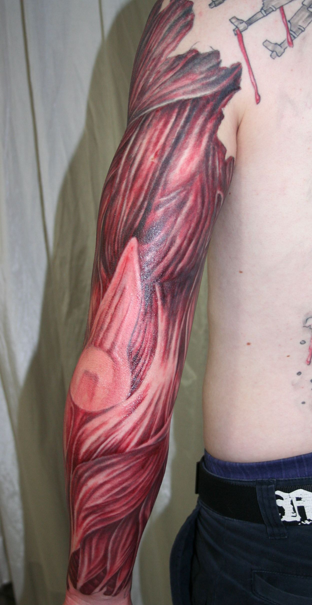 arm with muscle tissue4 Tattoo by 2Face-Tattoo