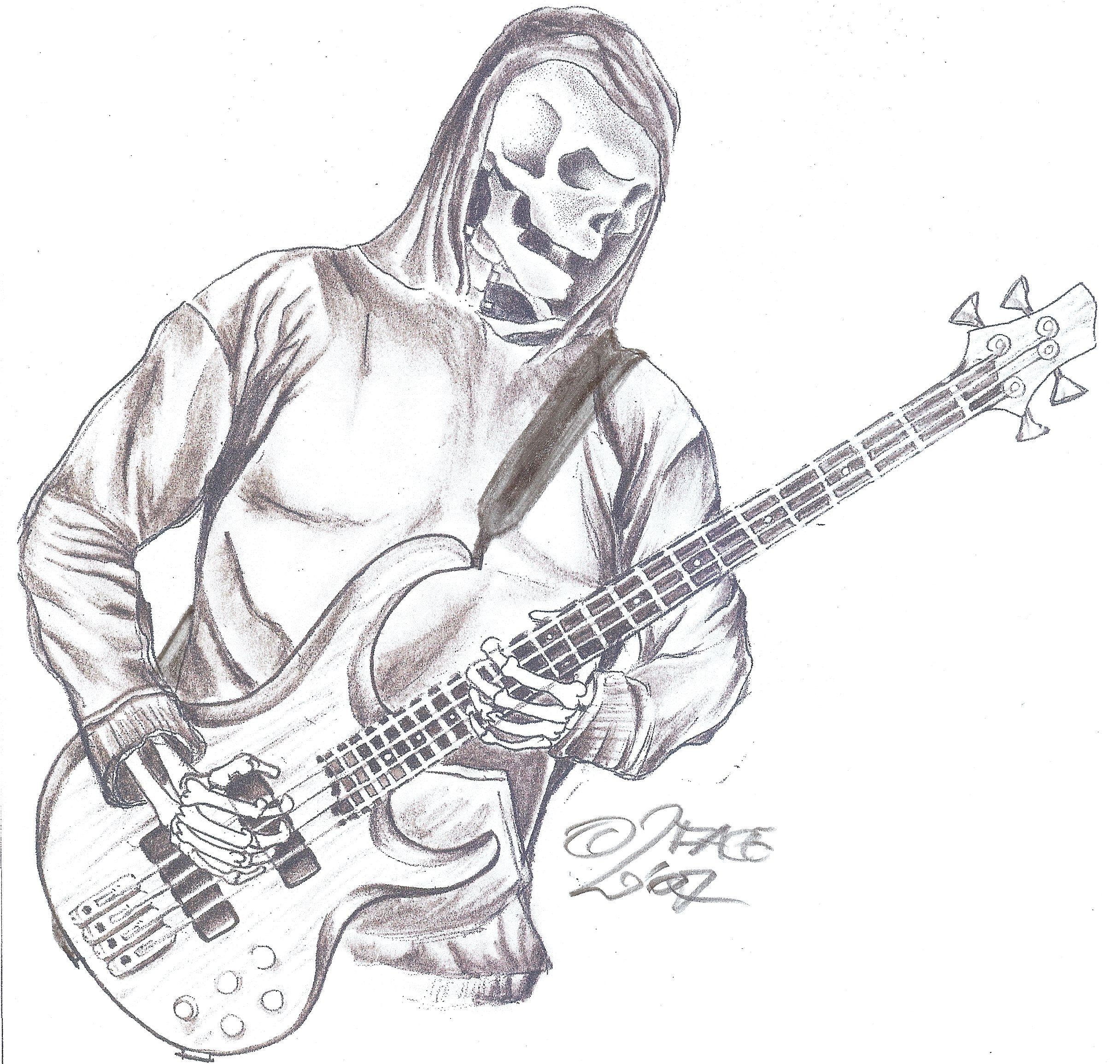 tattooflash reaper guitar by 2face tattoo on deviantart. Black Bedroom Furniture Sets. Home Design Ideas