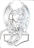 Celtic Dragon Th Tattoo Design by 2Face-Tattoo