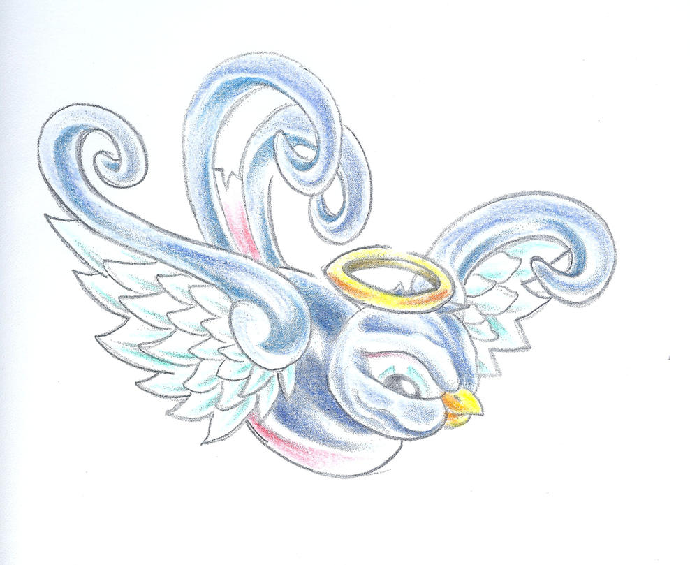 Angel Swallow Colour Tattoo by 2Face-Tattoo on DeviantArt - photo#36