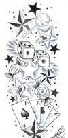 TattooDesign SweetsCherryStars