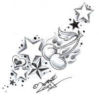 TattooD. StarsSweetsCherry2 by 2Face-Tattoo