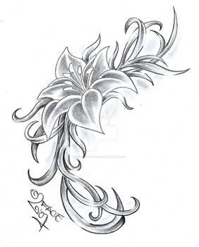 Flower Climb Tattoo Design