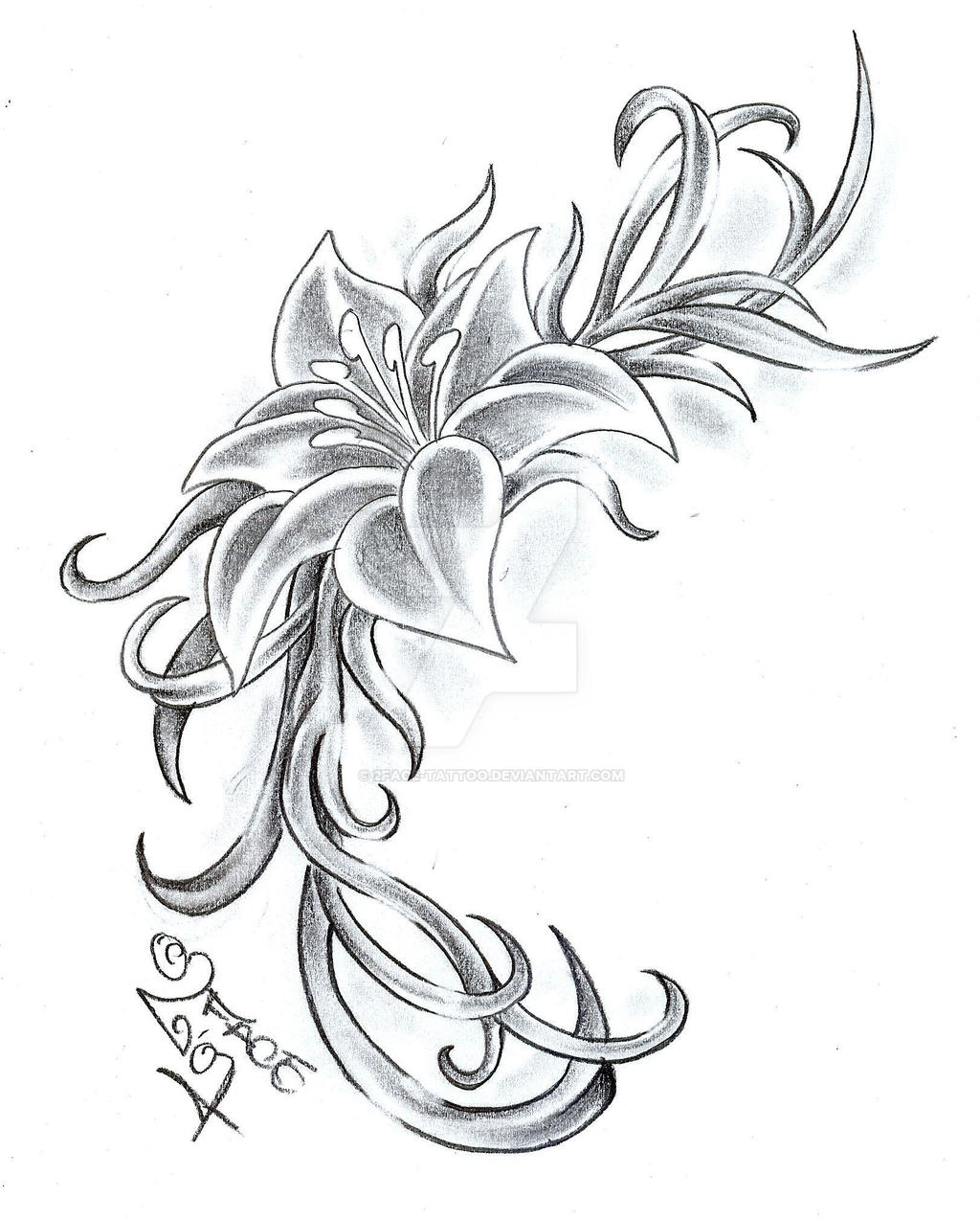 Flower climb tattoo design by 2face tattoo on deviantart - Tatouage force et courage ...