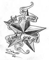 Star Letter Sign Tattoo Design by 2Face-Tattoo