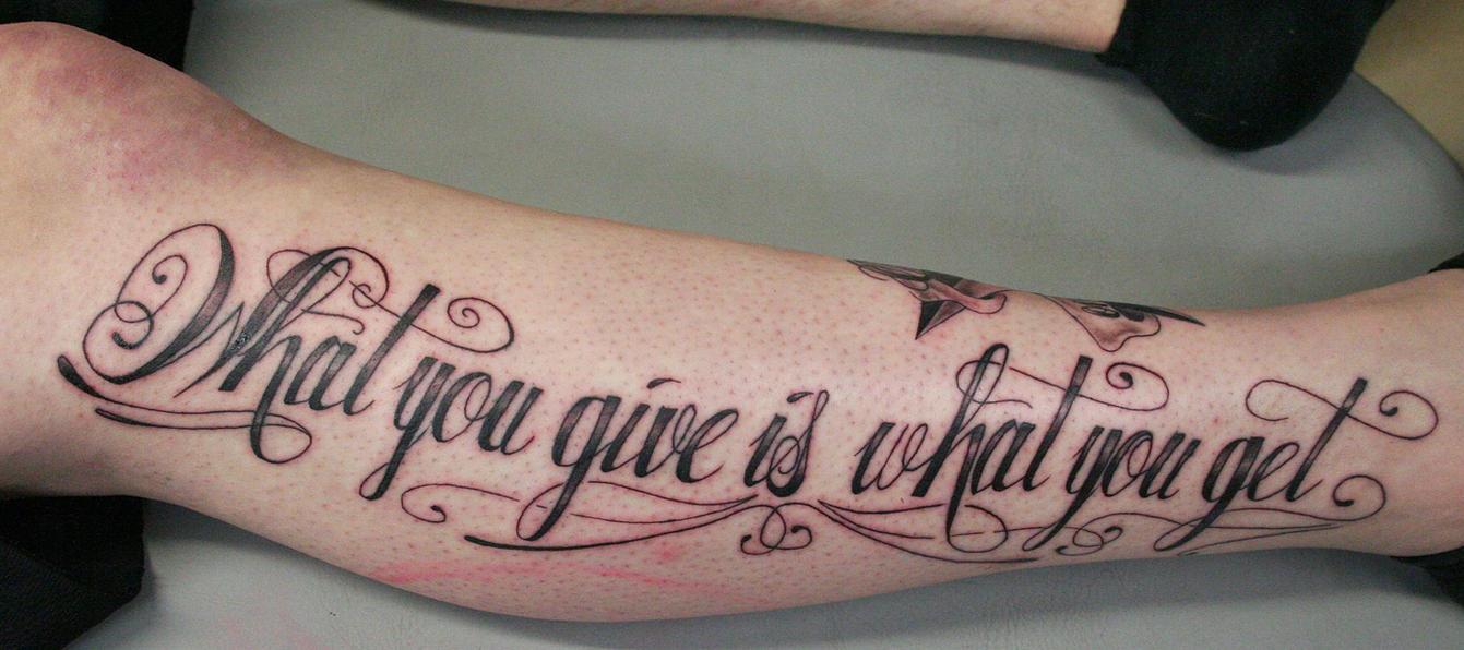 tatoo writing