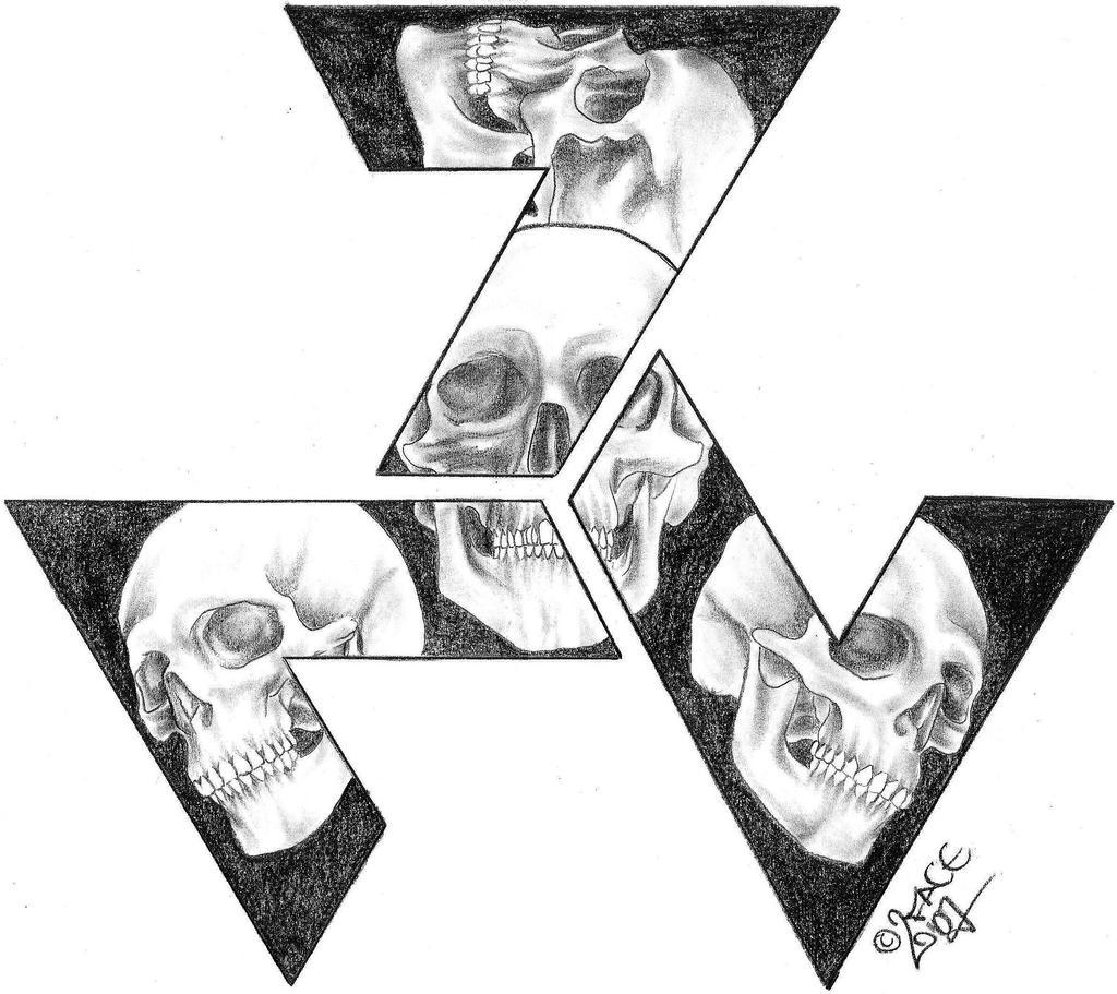 Skull Triskele Tattoo Design