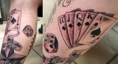 Dices Ace of Spades Tattoo