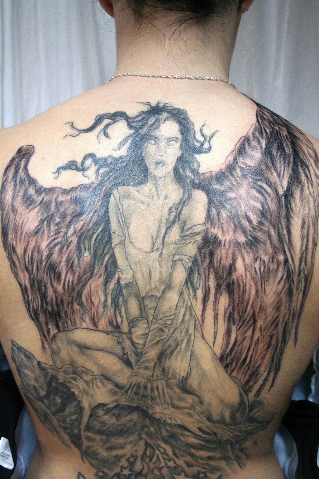 Angel Big Wings Tattoo