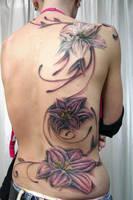 Backpiece Flower Tattoo by 2Face-Tattoo