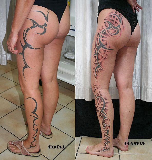 Tribal shading Cover Tattoo