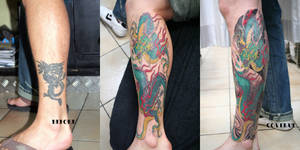 Japanese Style Cover up Tattoo