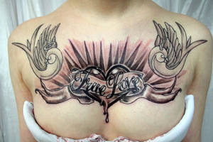 True Love Lettering Heart TaT by 2Face-Tattoo