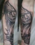 Horror Arm Sleeve Skull Tat