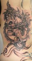 Dragon Skulls Tattoo by 2Face-Tattoo
