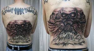Backpiece Skulls BG Onkelz TaT by 2Face-Tattoo