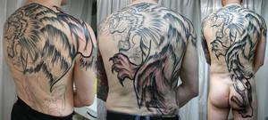 Backpiece Tiger  Tattoo