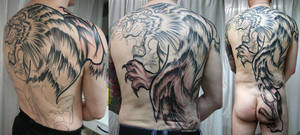 Backpiece Tiger  Tattoo